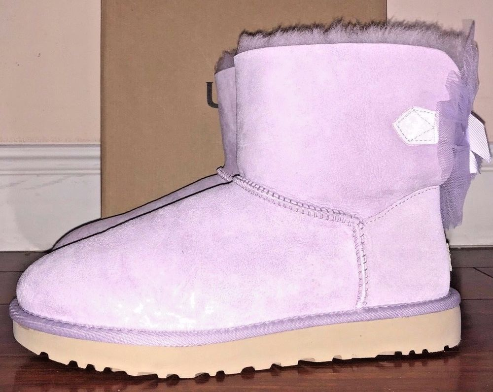 ee10302afd Ugg Australia Women s Lavender Mini Bailey Tulle Bow Boots  UGGAustralia   WinterBoots