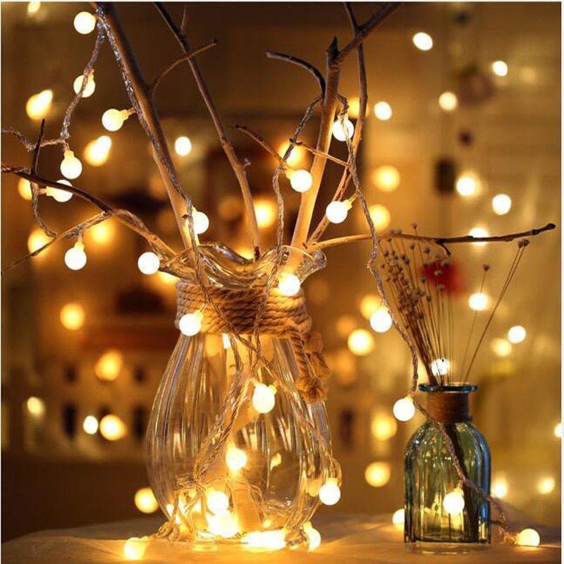 Aliexpress Com Comprar Guirnalda M De Hadas De 1 5 M 3 M Luces De Bola Led Impermeables Para árbol De Navida Luces De Hadas Luces Led De Colores Bola De Luces