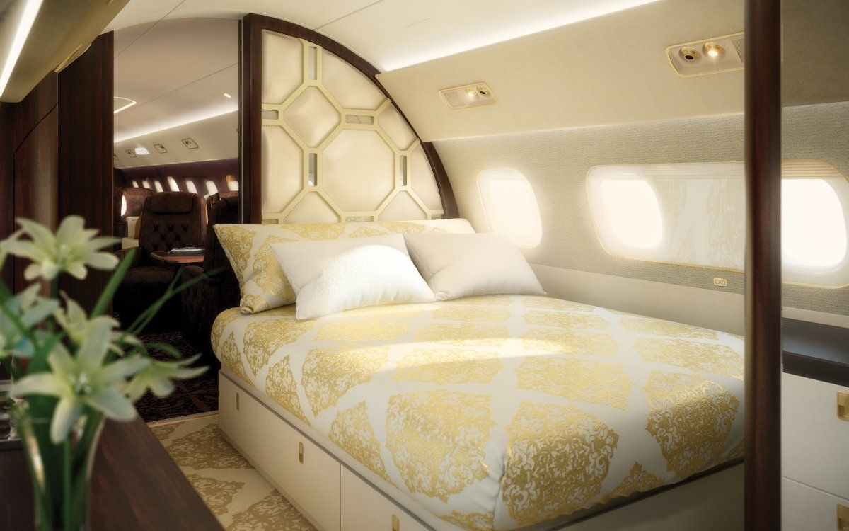 This stunning private jet with 5 separate rooms is as luxurious as ...