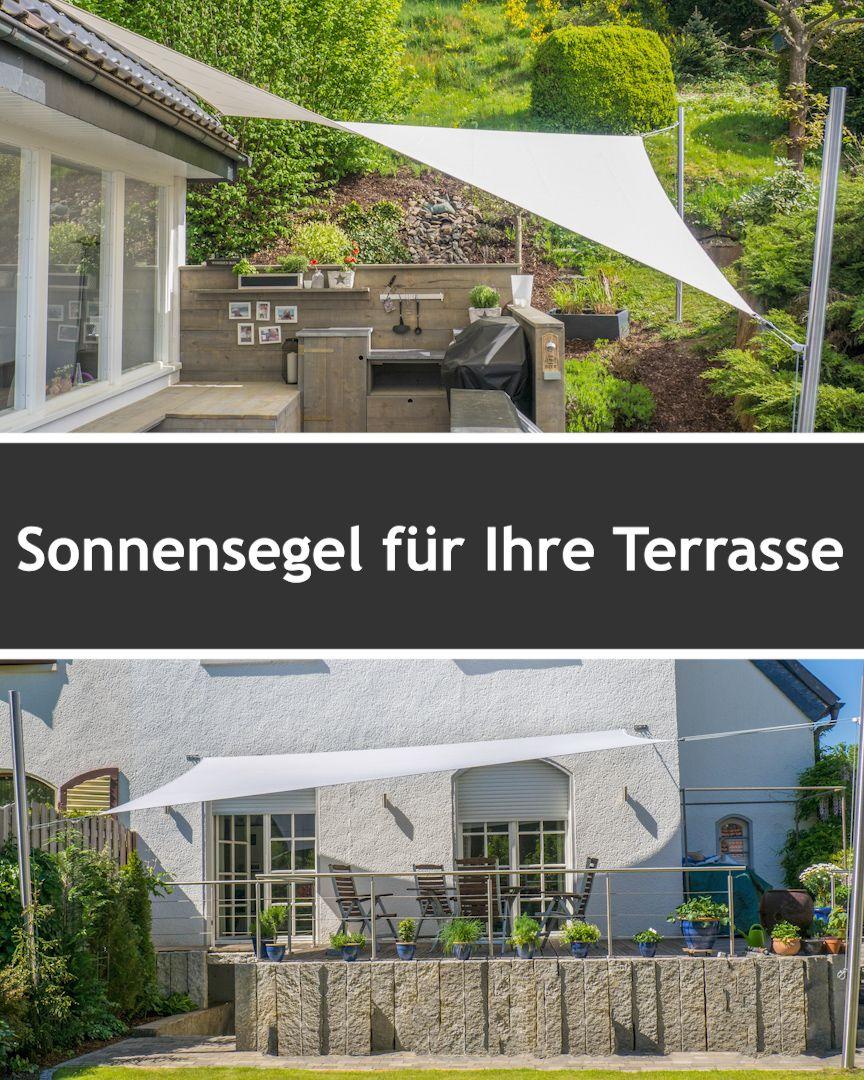 Photo of Sonnensegel Komplettset mit Masten & Zubehör