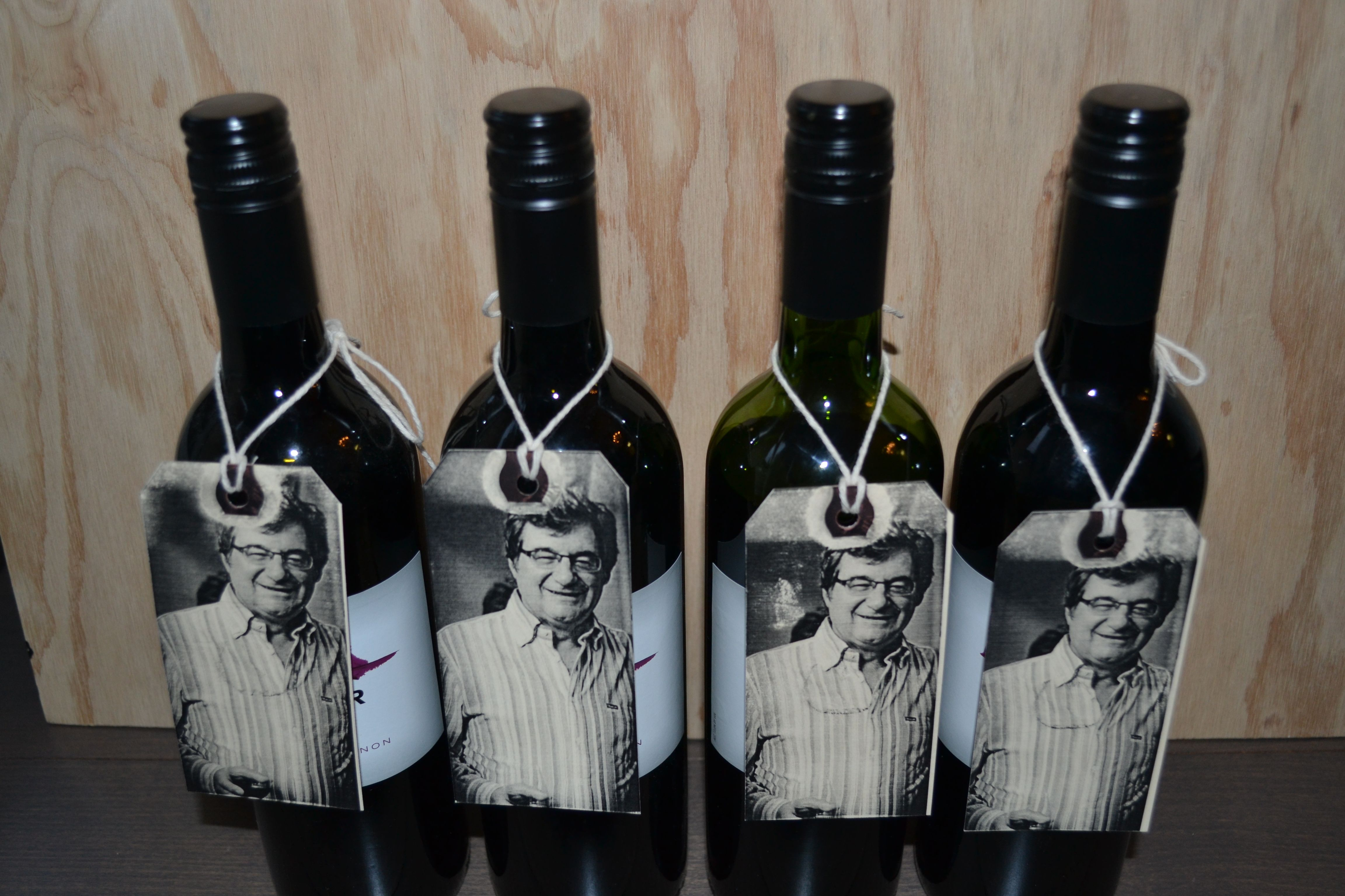 Wine bottle favors for 60th birthday party DIY tags For