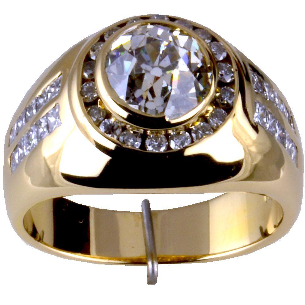 14kt Mens Diamond Ring 333 Ct