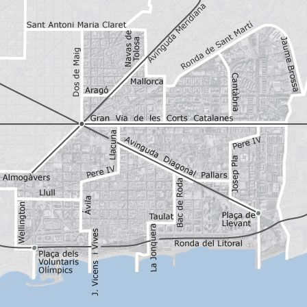 Mapa de Sant Martí, Barcelona viviendas en alquiler