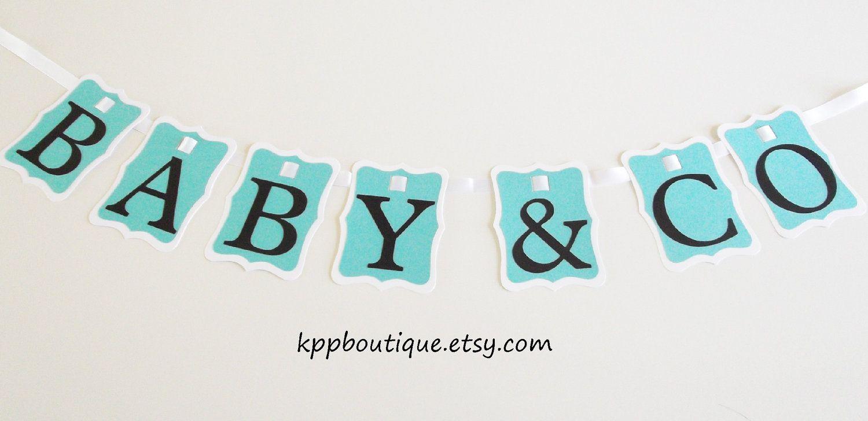 Baby Shower Banner Baby Co Baby Shower Banner 1800 Via Etsy Tiffany Co