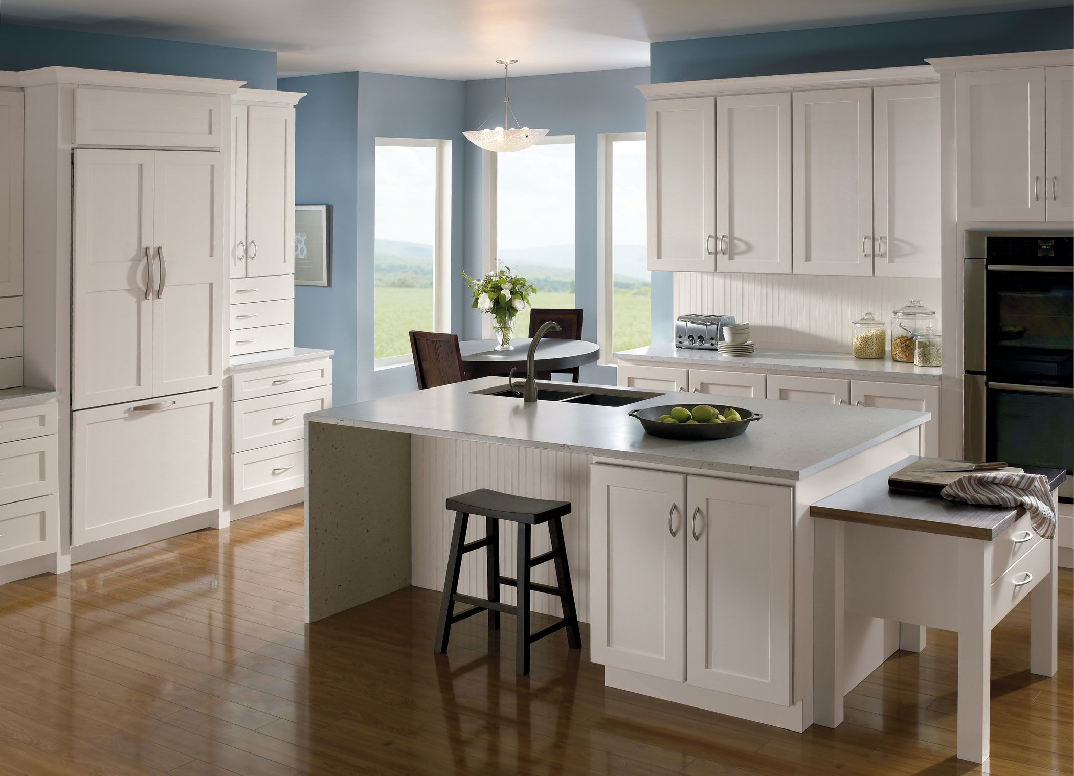Homecrest Completes The Dover Maple Doors With An Alpine Finish For A Fresh Casual Look Kitchen Cabinets In Bathroom Home Decor Kitchen Kitchen Cabinetry