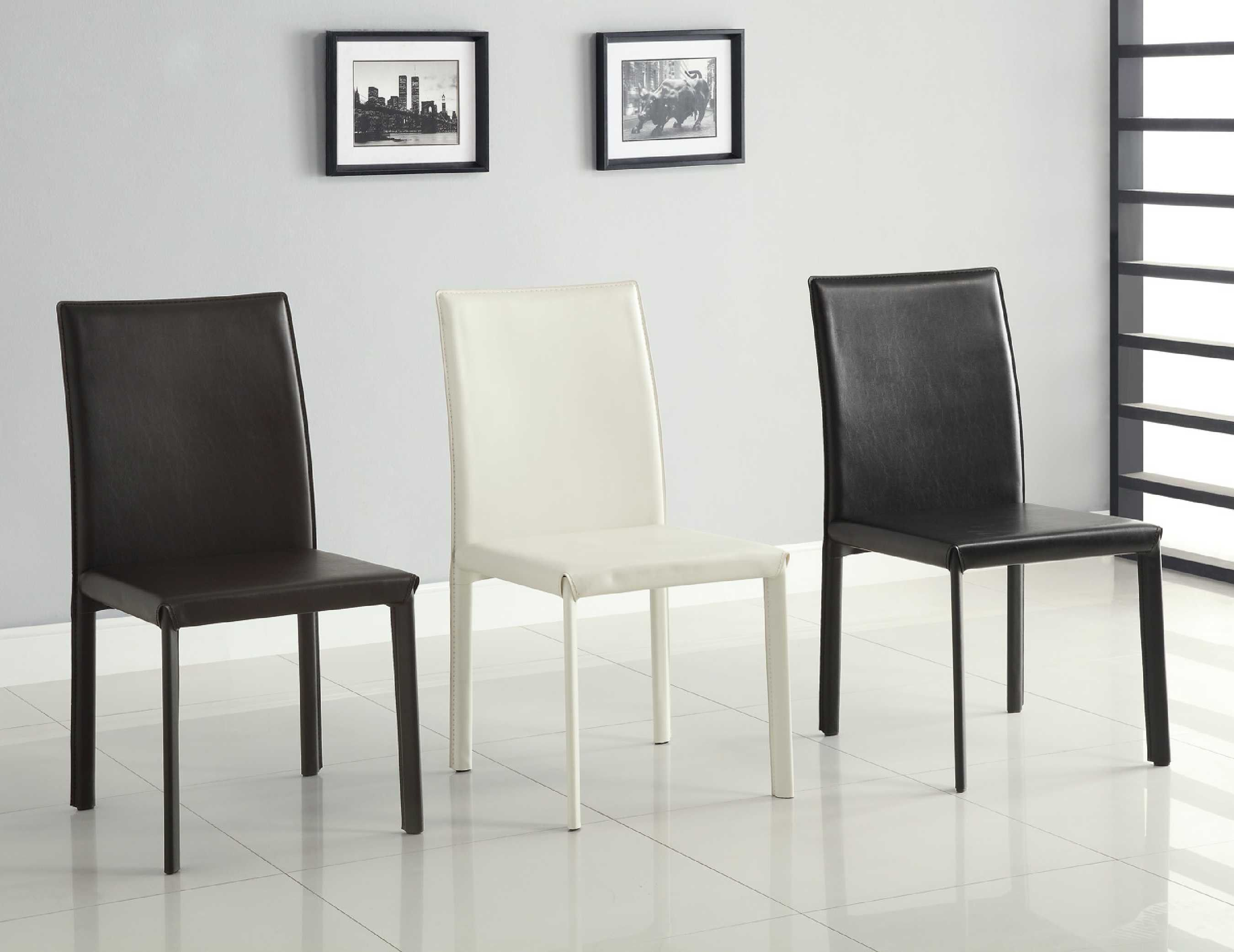 Coaster chair white set of 4 100497wht dining chairs