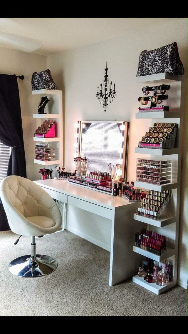 DIY Vanity Mirror With Lights For Bathroom And Makeup Station | Vanities,  Organizing And Decorating