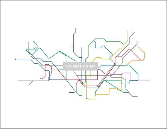 Barcelona Subway Map.Barcelona Metro Subway Map Line Art 8 5 X 11 Print Products