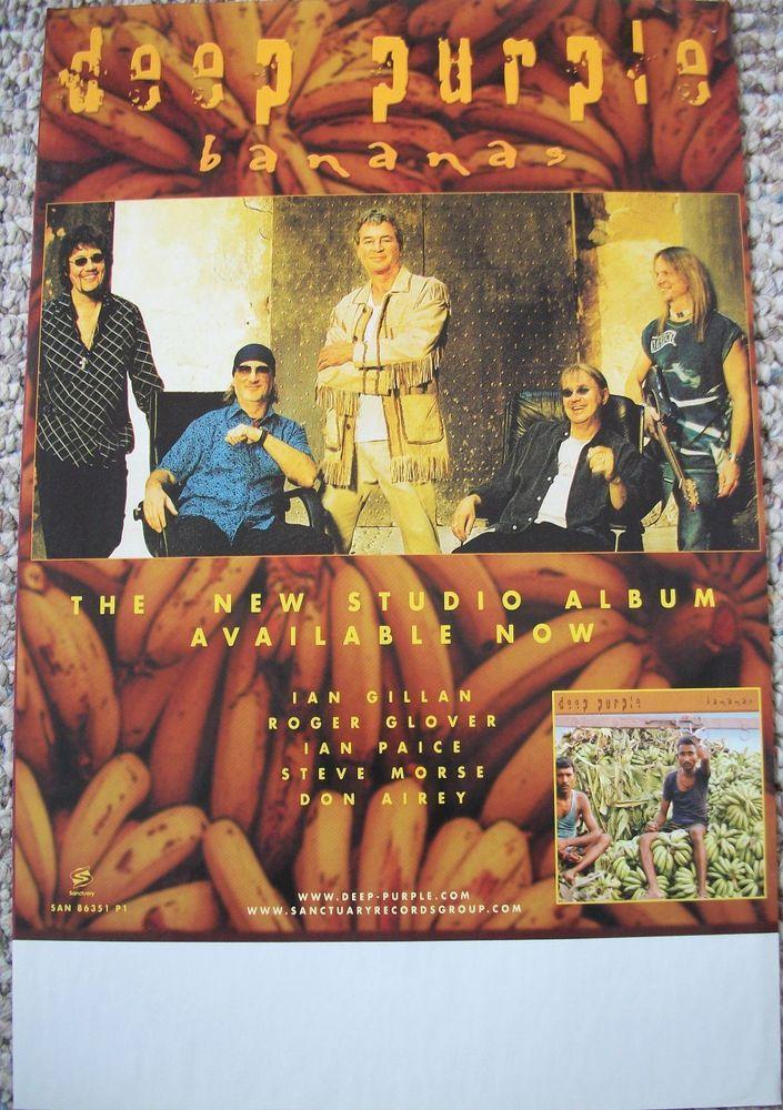 Deep Purple / Bananas / 2003 Sanctuary Records Promo Poster / Group Photo / RARE #DeepPurple #Poster