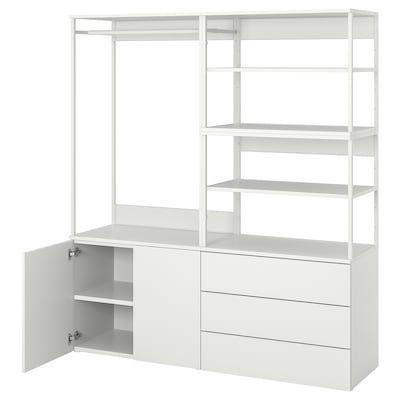 Ikea Pax Guardaroba 2 Ante.Platsa Guardaroba Con 2 Ante E 3 Cassetti Bianco Fonnes Bianco