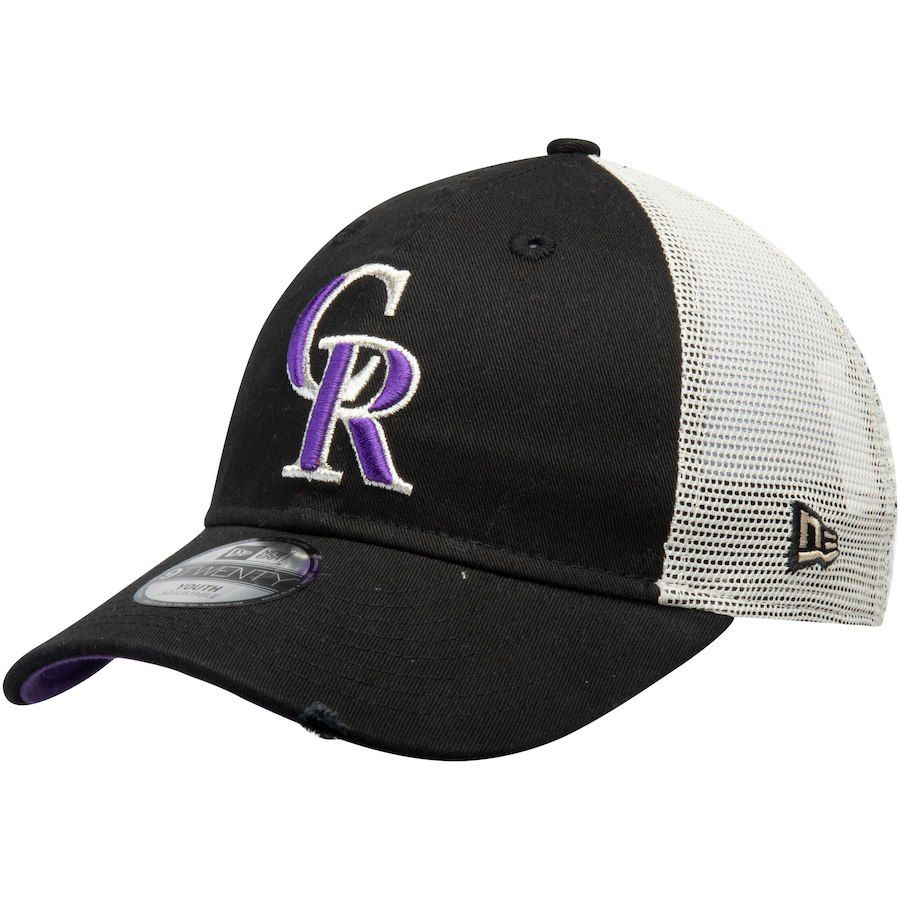 the best attitude 6e3a0 379fa Youth Colorado Rockies New Era Black Junior Stated Back Trucker 9TWENTY  Adjustable Hat, Your Price   17.99