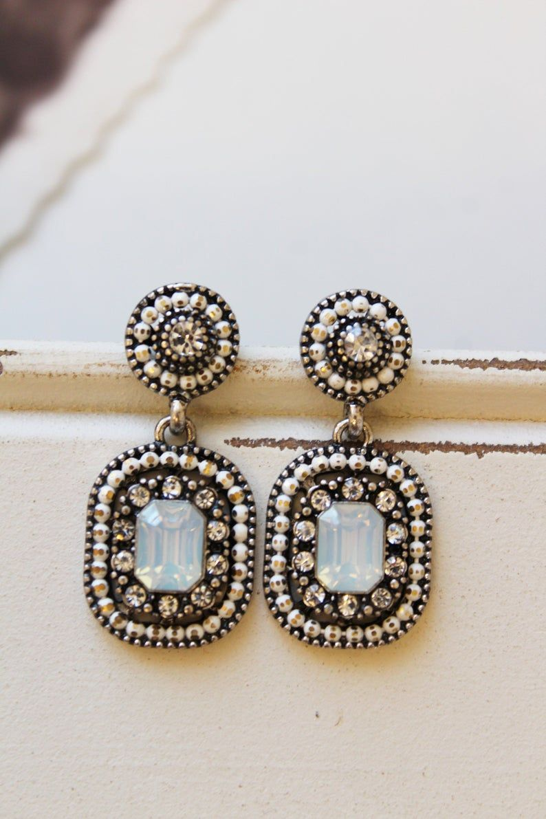 Art Deco Style Earrings Uk Vintage Style Statement Earrings Art Deco Earrings Antique