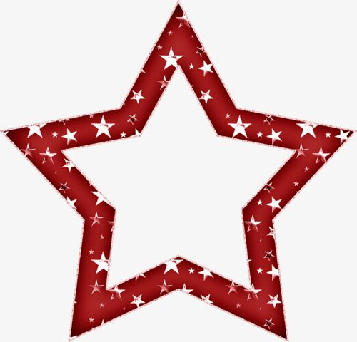 Decorative Stars Border Red Star Frame Png Transparent Clipart Image And Psd File For Free Download Stars Clip Art Png