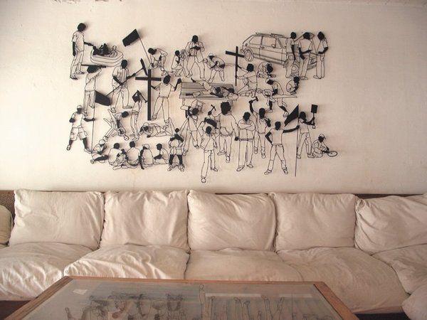 Оригинальный декор на стену своими руками 920