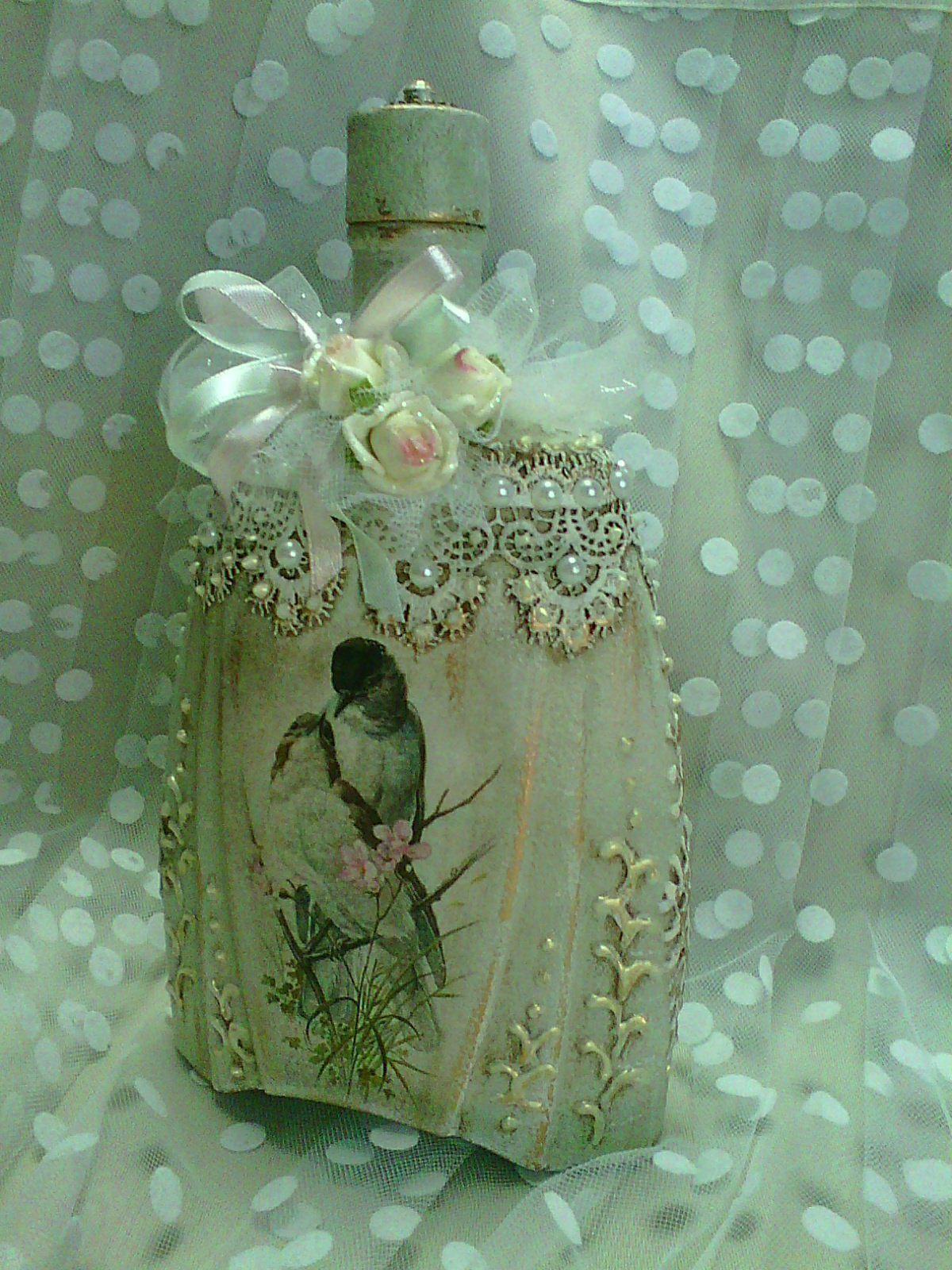 китайский или бутылки в стиле шебби шик декупаж фото сашина рассказала своей