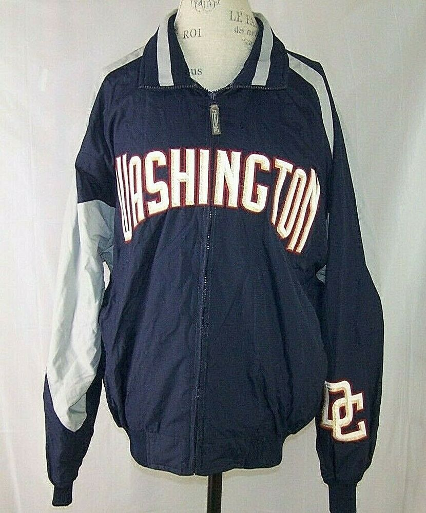 Authentic Washington Nationals Majestic Mlb Jacket Full Zip Men S L Navy Blue Ebay In 2020 Mlb Jackets Jackets Washington Nationals