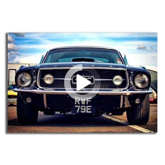 Muscle Car Mustang Poster 40×60 27×40 24×36 20×30 18×24 inch (GB03)