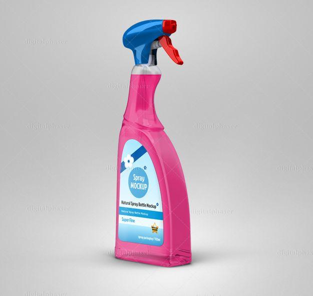 Spray Bottle Mockup Waschmittel Verpackung