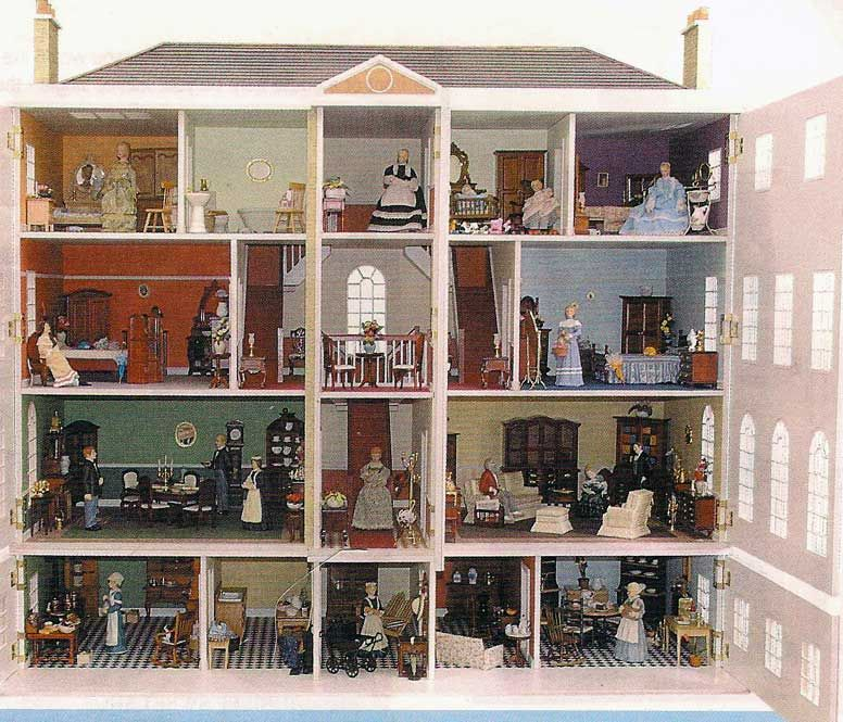 Finished Doll Houses With Furniture