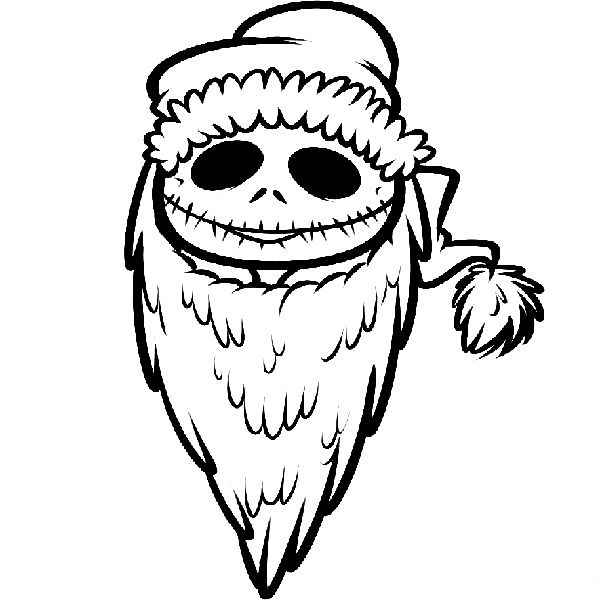 nightmare before christmas coloring pages - Coloring Pages Christmas Stuff