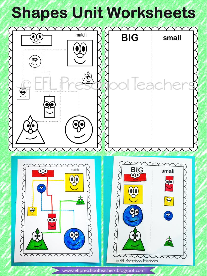 Shapes Theme For Kindergarten Worksheets Art Activities For Kids English Language Teaching Kindergarten [ 1125 x 846 Pixel ]