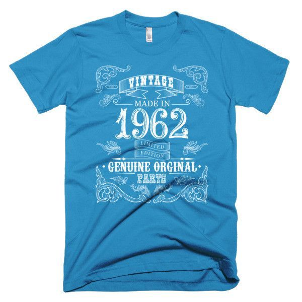 Made in 1962 Aged to perfection Short sleeve men's t-shirt
