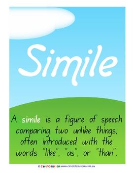 Simile Teaching Pinterest Teaching Grammar And Classroom