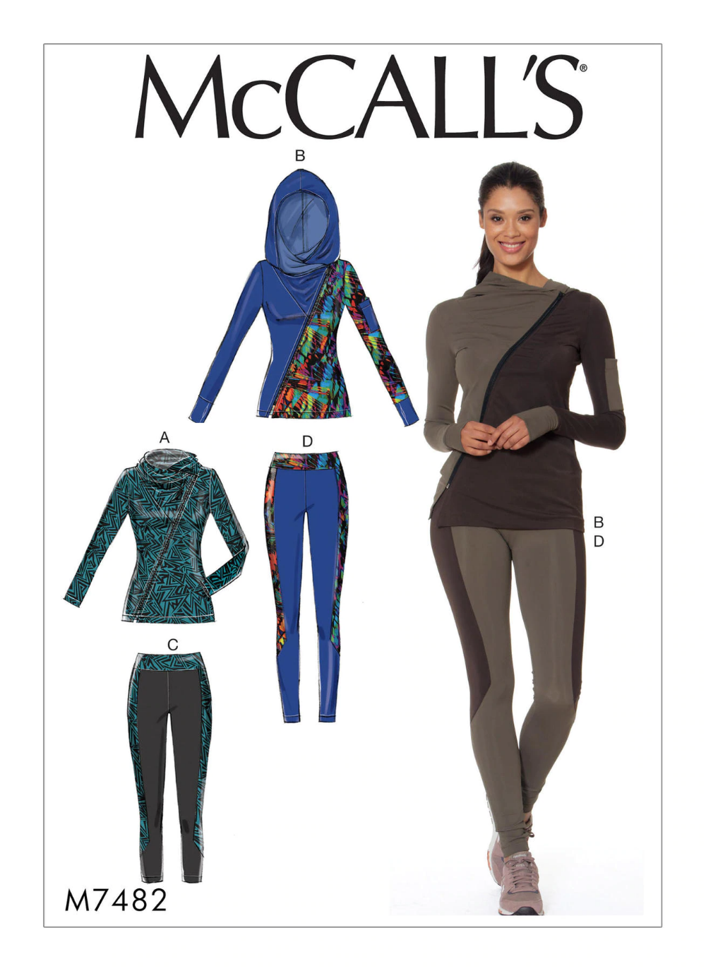 Instructions English Spanish Printable Sewing Pattern JOGGERS /& SWEATER outfit SPORT Pattern sewing woman S M L patterns simplicity