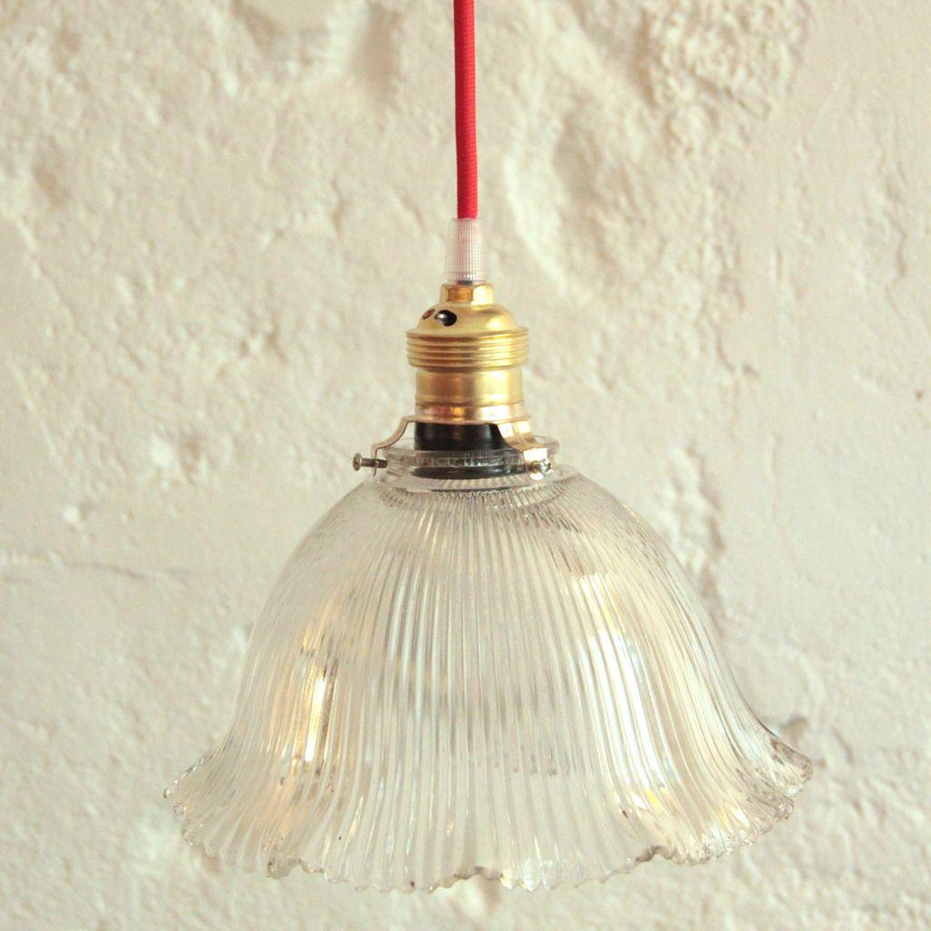 Verre Type Ancienne En HolophaneÉlectricité Suspension Luminaire N0wmn8Ov