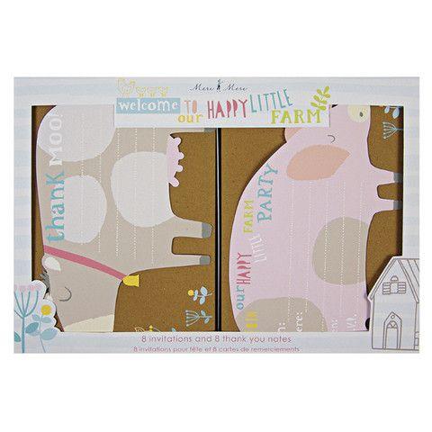 happy little farm invitation & thank you cards
