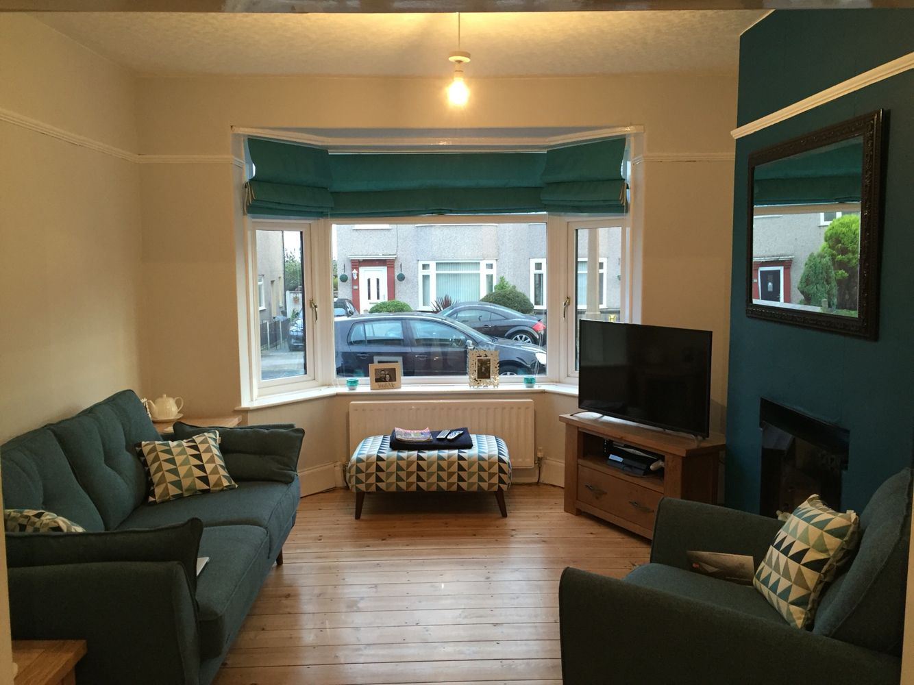 Dfs Zinc Sofas Teal And Pale Grey Living Room After The