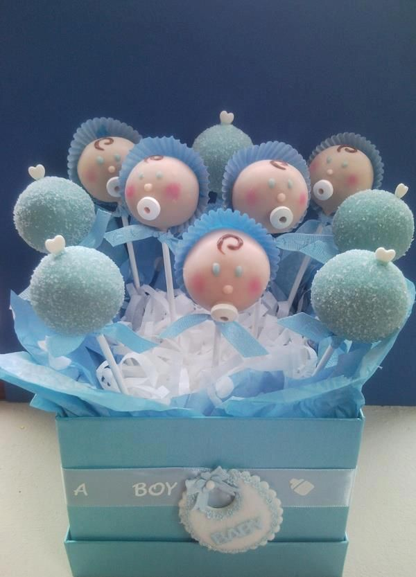 Cake Pops - baby shower - pink blue