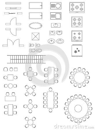 Standard Symbols Used In Architecture Plans Top View Plan