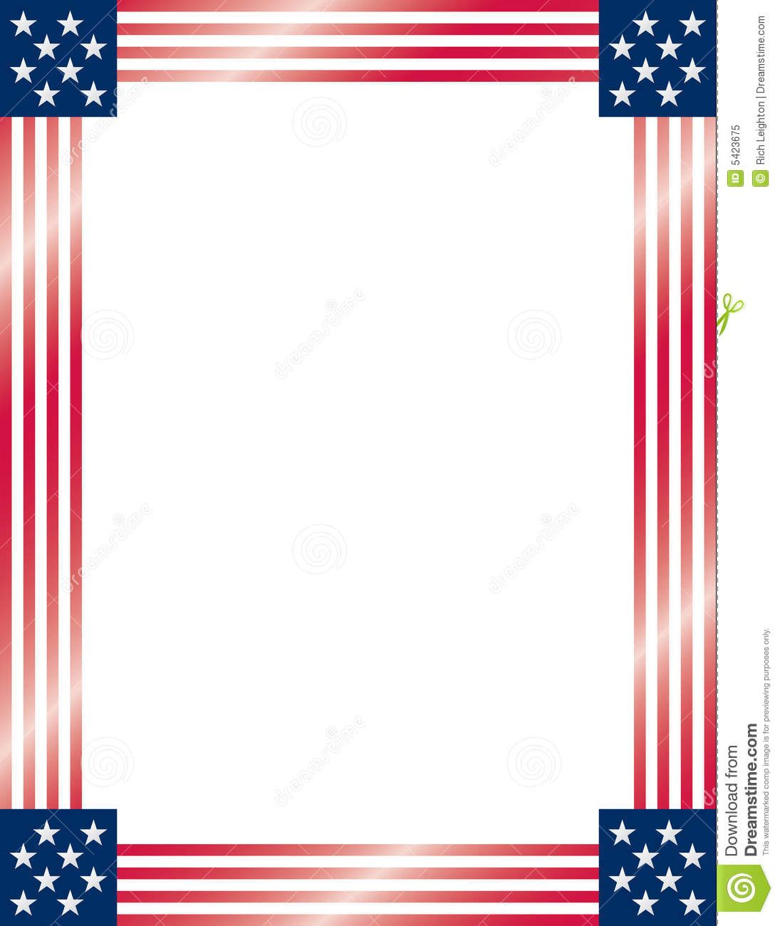 American Flag Frame. Vector. Royalty Free Stock Photo ...