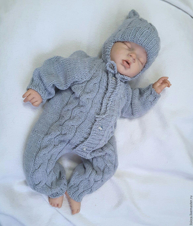 купить комбинезон шапочка малышок комбинезон вязание для