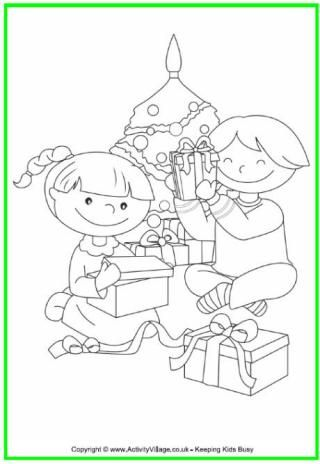 Christmas Colouring Pages Christmas Present Coloring Pages