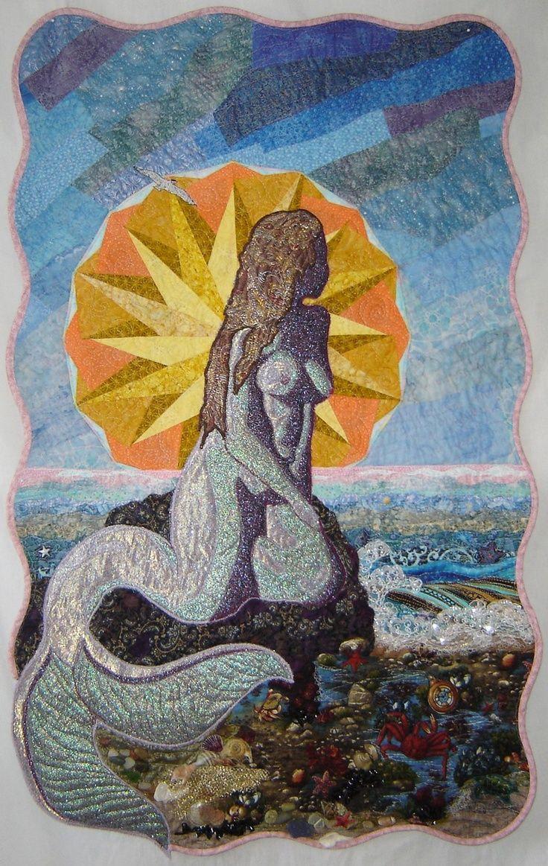 blue mermaid tapestry