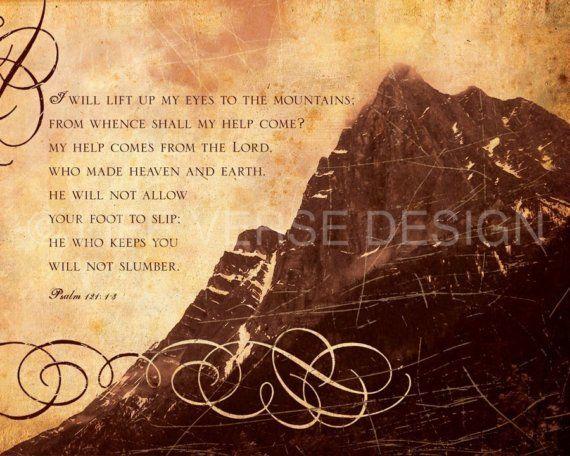 Psalm 121 art - Encouragement Gift - Christian Gift - Bible Verse ...