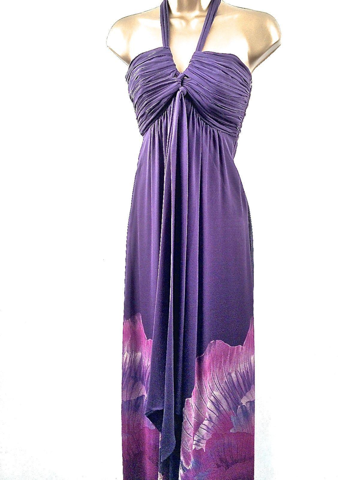 Karen Millen Dress Sizes 6 & 10 Purple Pink Silk DL193 Long Evening Ladies Maxi | eBay