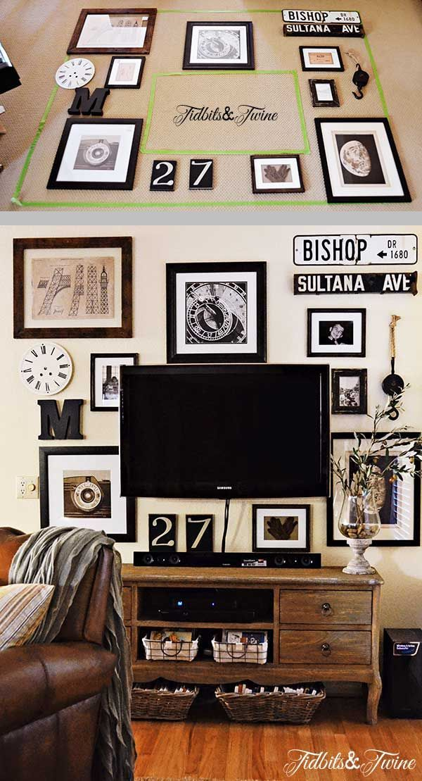 The Easy Way To Lay Out A Gallery Wall