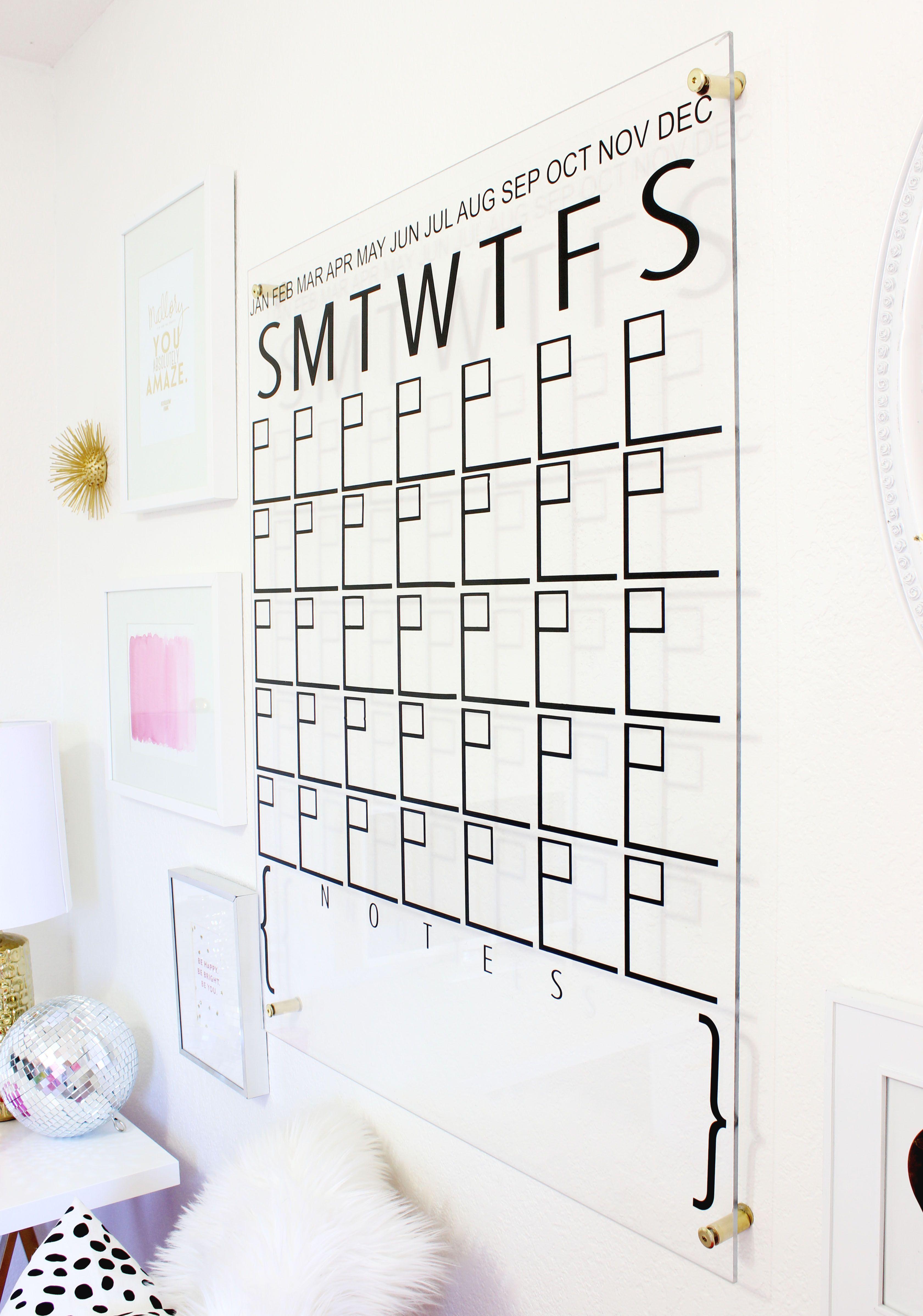 Year Calendar Officeworks : Diy acrylic calendar pinterest