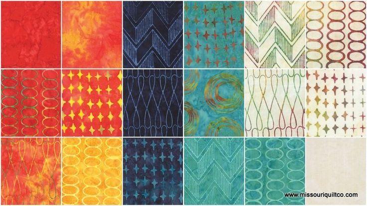 The Sweet Life Batiks by Pat Sloan for Moda Fabrics (layer cake & yardage)