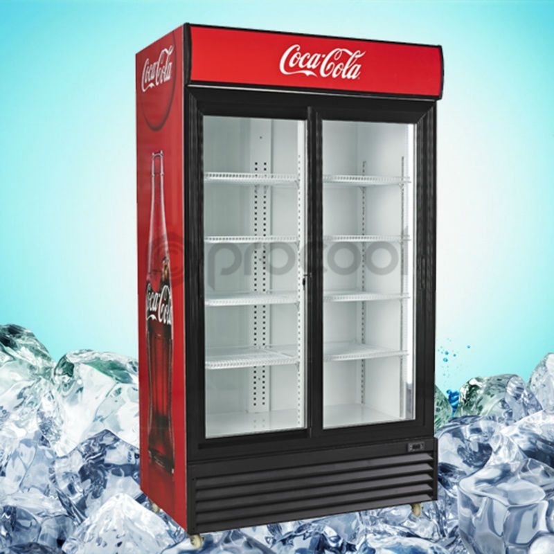 Commercial Glass Door Upright Refrigerator For Drinks 400 600