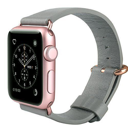 4531ed9ea1686 Apple Watch Band Genuine Leather iWatch Strap 38mm Gray - Rose Gold Women  NEW  JSG