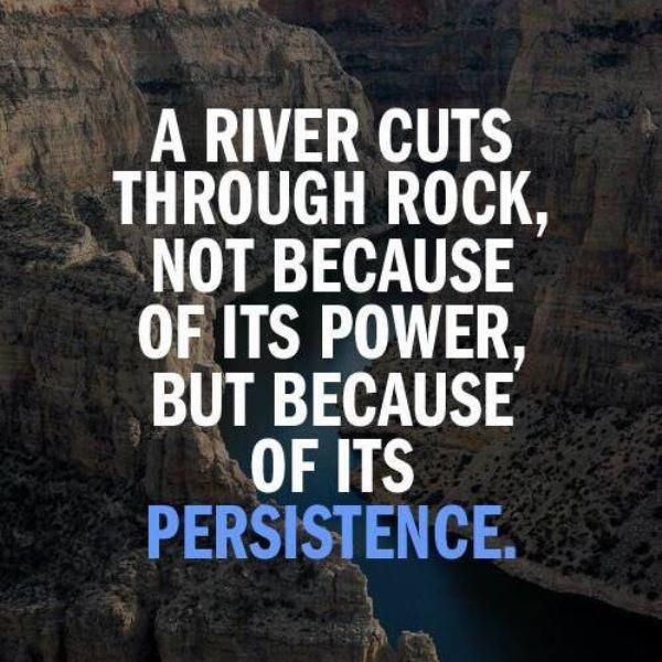 Persistence Is The Key Stick In There It May Not Happen