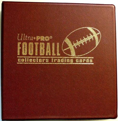 """Pebbled Football Trading Card Collector's Album (3"""" D-Ring"""