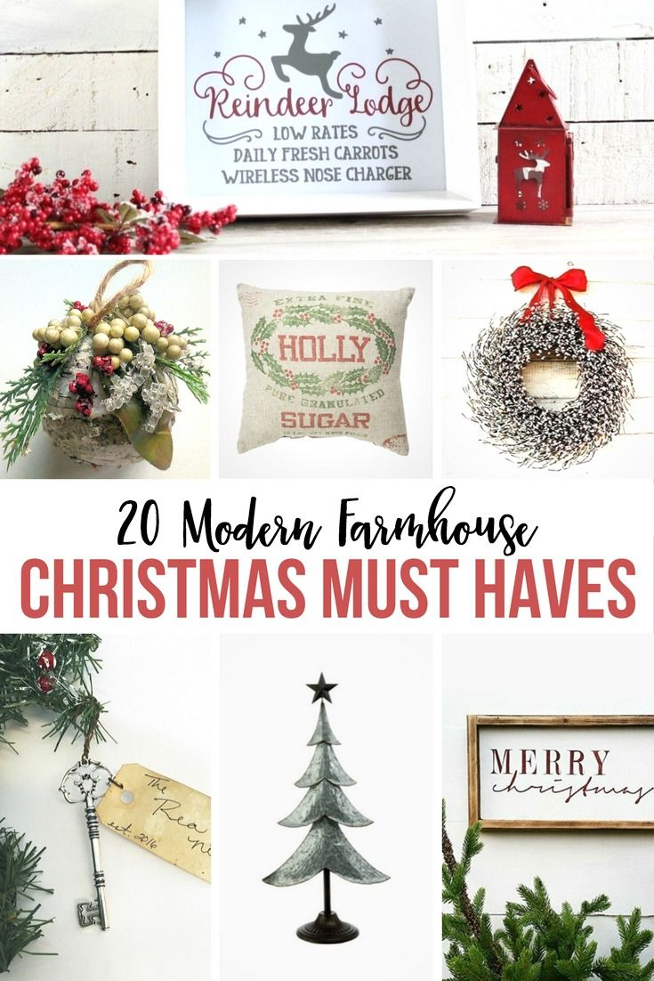 20 modern farmhouse christmas must haves - Christmas Must Haves