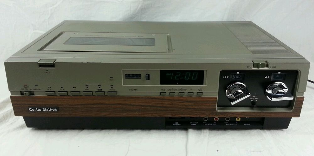 Vintage curtis mathes g748 vcr vhs player video cassette recorder vintage curtis mathes g748 vcr vhs player video cassette recorder made in japan our first publicscrutiny Choice Image