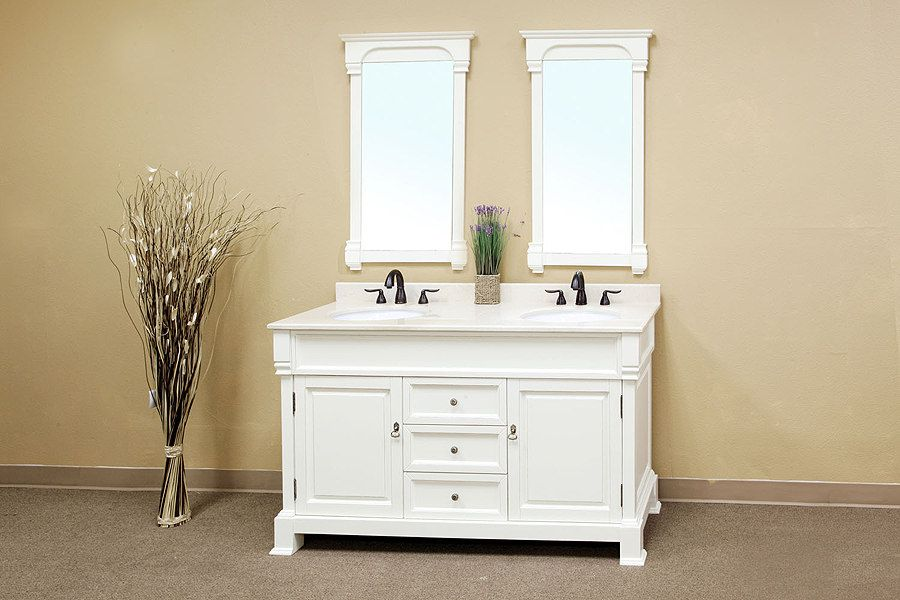 Awesome White Bathroom Vanity Representing Elegant Bathing Spaces Fascinating White Bathroom Vanity Home Depot Design Ideas