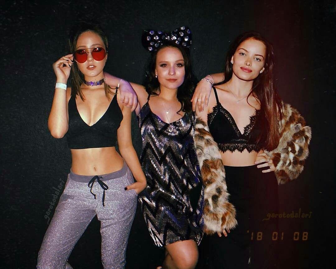 6d563f51dab65 Larissa Manoela,Giovana Chaves e Mharessa Fernanda   vestidos dá ...